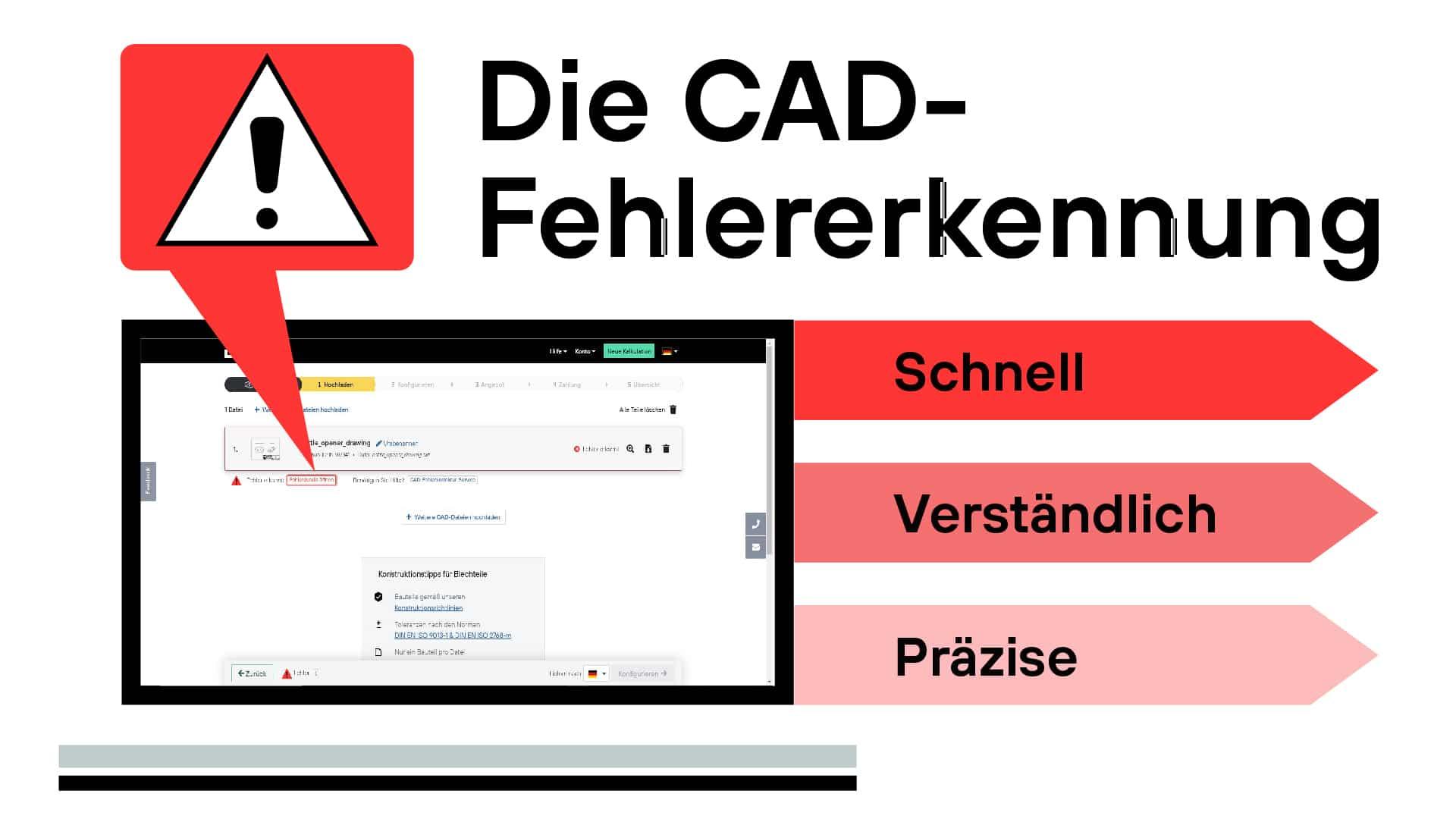 Die Erkennung von Fehler Ihrer CAD-Datei aufmacher