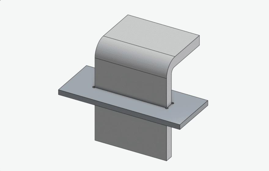 Eckenverrundung Steckverbindung Beispiel