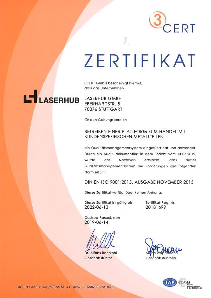 Laserhub-Zertifizierung-ISO-9001