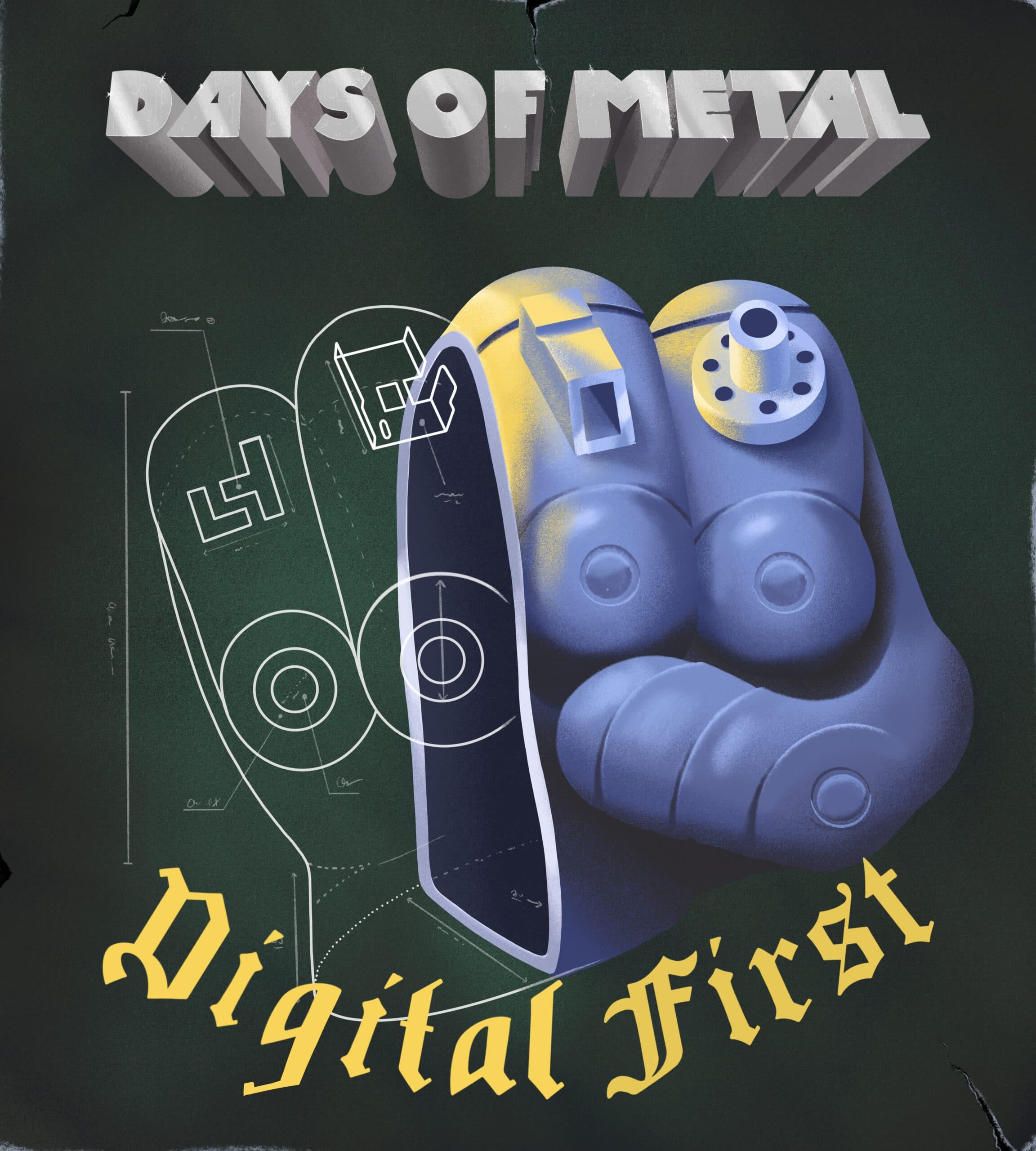 Illustration zu den Days of Metal im Stile eines Albumcovers