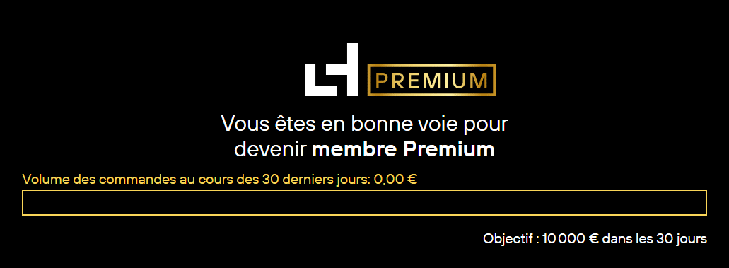 Membre Laserhub Premium progrès